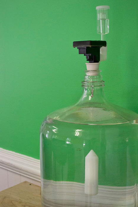 BeerBug installed on a glass carboy