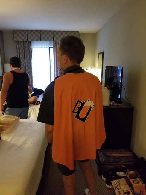 Greg in his cape