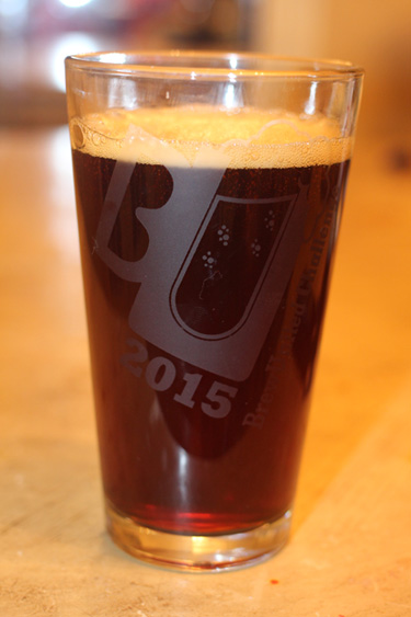 Old ale in glass